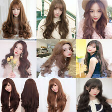 Women Long Curly Wavy Wig Synthetic Heat Resistant Cosplay Party Full Wigs