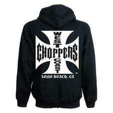 West Coast Choppers WCC : sweat Veste Gilet zippé Noir Croix de Malte ZIP-UP
