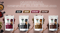 Black, Brown, Burgundy & Chestnut | Natural Henna Hair Color| Organic Hair Dye