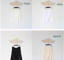 Lady Satin Faux Silk Underskirt Petticoat Mini Under Dress Half Slip Unederwear