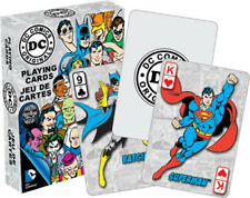 DC Comics Retro Comic Art Illustrated Poker Playing Cards Deck, NEW SEALED