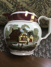 Gray's Pottery Copper Luster Ye Olde Jug Inn Hand Painted 5""