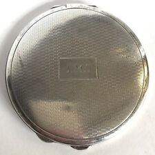 Vintage Solid Silver Round Compact 1940 Deakin & Francis