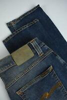 RRP$215 NUDIE GRIM TIM ORG. CRISPY USED Men W36/L34 Fades Whiskers Jeans 5193_mm