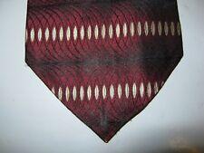 Burma Bibas SILK Tie Necktie 59 x 3.75 burgundy black white 14236