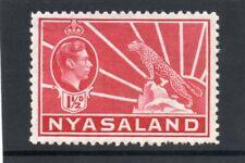Nyasaland GV1 1938-44 1.1/2d carmine sg 132 VLH.Mint