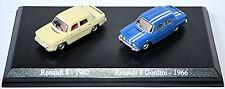 Renault 8 - Set 2 Cars - R8 1962 creme + R8 Gordini 1966 blau 1:87 UH