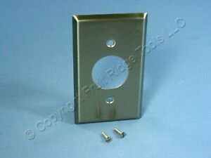 Cooper ANTIMICROBIAL Stainless Steel Receptacle Wallplate Single Outlet Cover
