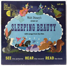 "Walt Disney's Story Of Sleeping Beauty BOOK +45 1965 7"" vinyl record Disneyland"