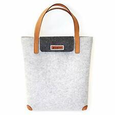 Filztasche Damen Freizeittasche aus Filz LuckySign® (Grau)