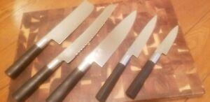 5 Piece Shun Wasabi Knife Set - Japanese (light weight)