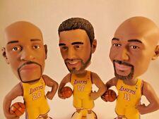 Set of 3 LA Lakers Bobbleheads