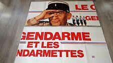 louis de funes LE GENDARME ET LES GENDARMETTES !  affiche cinema modele rare