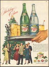 1954 Vintage ad for Canada Dry`retro bottles Christmas tree dresses   121918