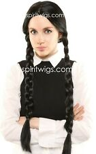 WEDNESDAY ADDAMS Character Theatrical Halloween Costume Wig SpiritWigs.com
