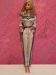 Vintage Western Barbie Doll 1980's Mattel winking #1757 cowgirl white jump suit