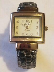 VIMORA ladie's quartz watch. Used. Square 28 mm dial. Good condition.   VIC3175