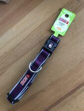 New With Tags Kong Comfort ,Reflective Dog Collar Eggplant Purple Med 14-20