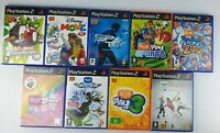 PS2 Eye Toy 9 Game Bundle Sony Playstation 2 - VGC