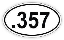 .357 Oval Vinyl Decal / Sticker Gun Rights Laws Euro Bumper Label 357 Magnum