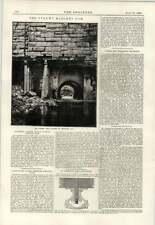 1890 Vyrnwy presa de mampostería Liverpool watersupply Perilla De Cerradura De La Puerta