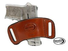 Belt Slide Ambidextrous Brown Holster for Pocket Size Pistols with or w/o Lasers
