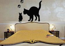 WWall Stickers Vinyl Decal Cat Kitten Animal Tracks For Kids ig116