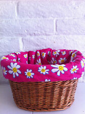 Bicycle Basket Liner Hot Pink Daisy Cruiser Bikes