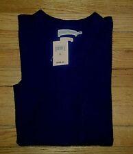 NWT $249 Sz XL Navy Blue LUCKY BRAND Cashmere L/S Sweater! c068