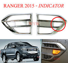 Fit Ford Ranger Mk2 2016 2017 L+R Chrome Signal Side Vent Indicator Fender Cover
