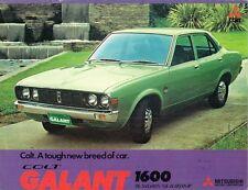 Mitsubishi Colt Galant 1600 1974-75 UK Market Foldout Brochure Saloon Hardtop