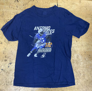 ANTONIO GATES CHARGERS ALL Time receiving Yards TIGHT END 112 NFL T SHIRT Sz Sm