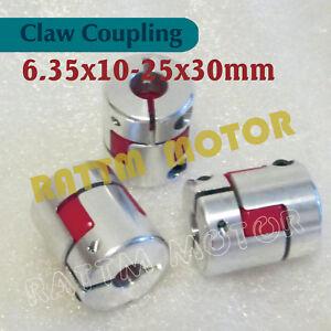 3Pcs 6.35x10mm CNC Flexible Jaw Spider Plum Coupling Shaft Coupler