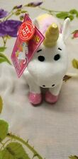 "Talking Rainbow Unicorn Plush Soft Toy 10"" Pastel its Corny How Much I Like You"