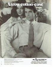 PUBLICITE ADVERTISING 027  1980   chemise homme Arrow   cotton-case