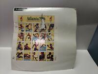 1996 Atlanta Centennial Olympic Games Souvenir Stamp Sheet Collectible Vintage
