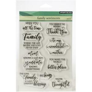 """Penny Black Clear Stamps - Family Sentiment 5""""X6.5"""""""