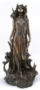 Figure Antique Woman Sculpture Art Nouveau Fee Statue Ornament Retro