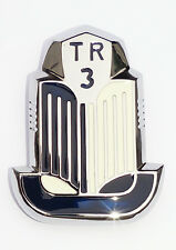 Triumph TR3 Bleu & émail blanc et chrome Shield Badge/médaillon, 608377