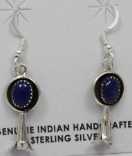 Navajo Indian Earrings 50% Off Lapis Dangle Sterling Silver Lenora Garcia
