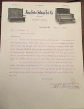 1906 KING SETTE FOLDING BED CO.  Louisville, KY Letterhead