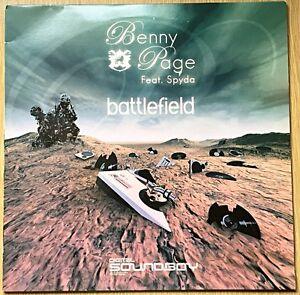 "Benny Page feat MC Spyda - Battlefield / Can't Test 12"" Vinyl Record DnB SBOY008"