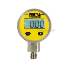 Battery-Powered 316 Body Digital Pressure Gauge,0-25Mpa 3V NPT1/4 4 LCD Display