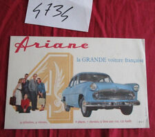 N°4734 / buvard en couleur SIMCA ARIANE
