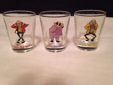 2003 Set of 3 Shot Glasses~ Hear, Speak & See No More by Kheper GUC