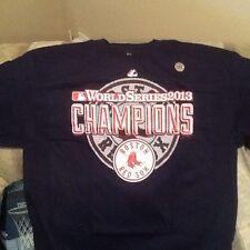 NEW 2013 BOSTON RED SOX WORLD SERIES CHAMPIONS MAJESTIC TEE SHIRT T-SHIRT XL
