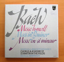Philips 6769 002 Bach Mass In B Minor Neville Marriner ASMF 3xLP + booklet NM/EX