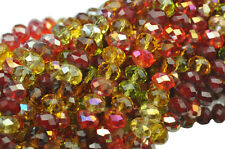 36 Autumn Leaves Mixed Faceted Crystal Rondelle Beads 8MM