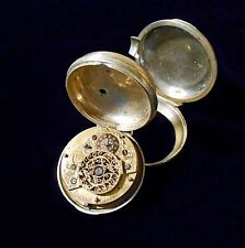 European Style Verge Fusee Pair Case Pocket Watch Franch London 1740 circa