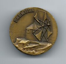 "BRONZE MEDAL OF PORTUGUESE WINDMILL ""PALMELA"" BY VASCO BERARDO. M25"